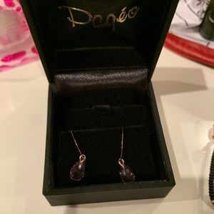 Jewelry - PAGEO | Gold and purple dangler earrings